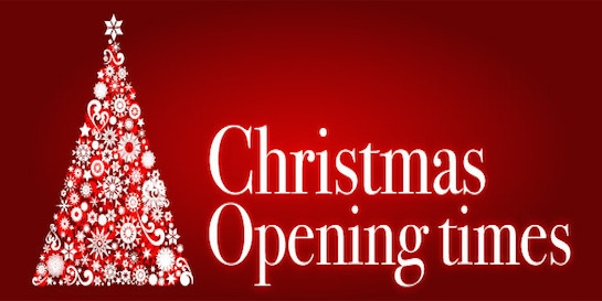 Christmas and New Year 2019: Opening Times